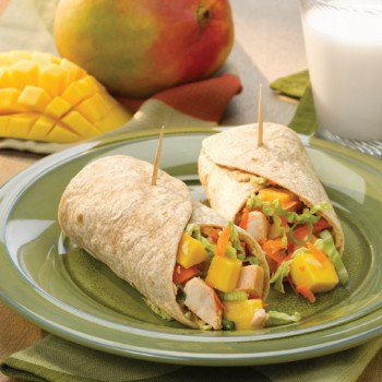 Asian Mango Chicken Wraps