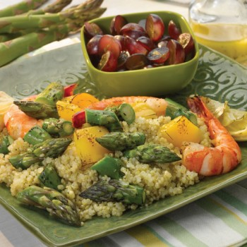 Asparagus and Shrimp Quinoa