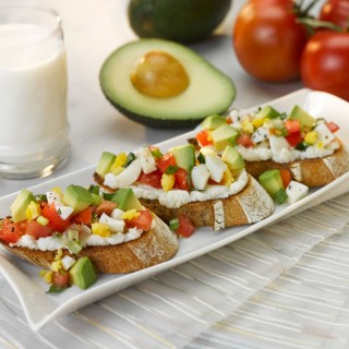Avocado Breakfast Bruschetta