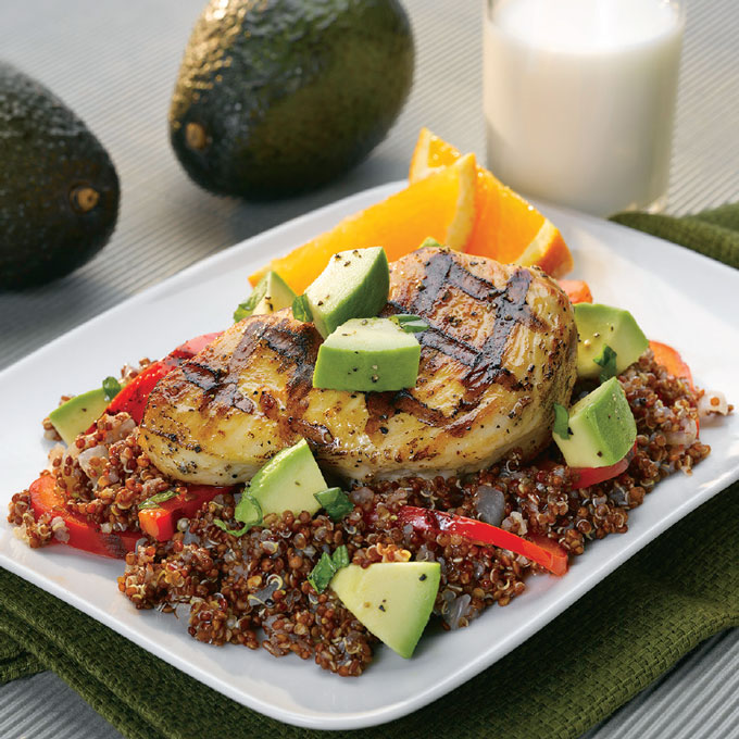 Chicken and Avocado Quinoa