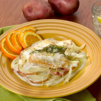 Scalloped Potatoes and Chicken Fennel