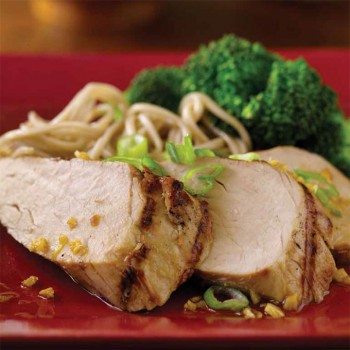 Grilled Pork Tenderloin with Asian Sauce