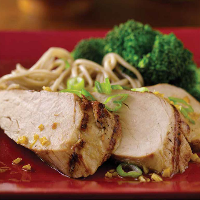 Grilled Asian Pork Tenderloin With Peanut Sauce Recipe ...