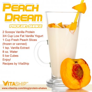 Peach Dream Protein Shake