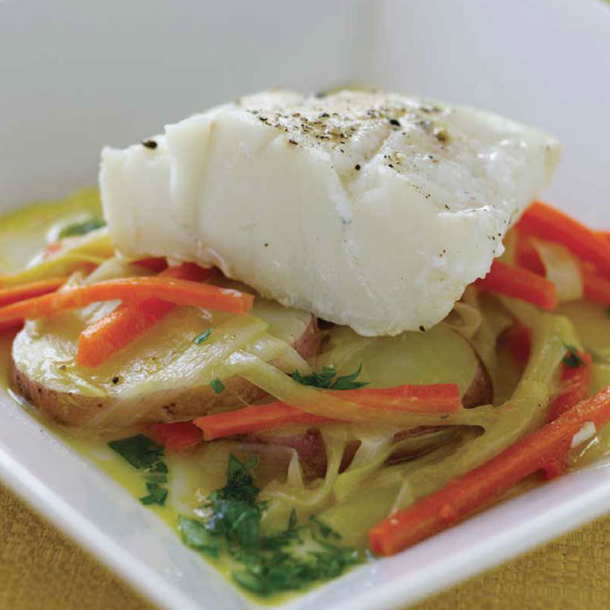 Braised Cod with Leeks Recipe