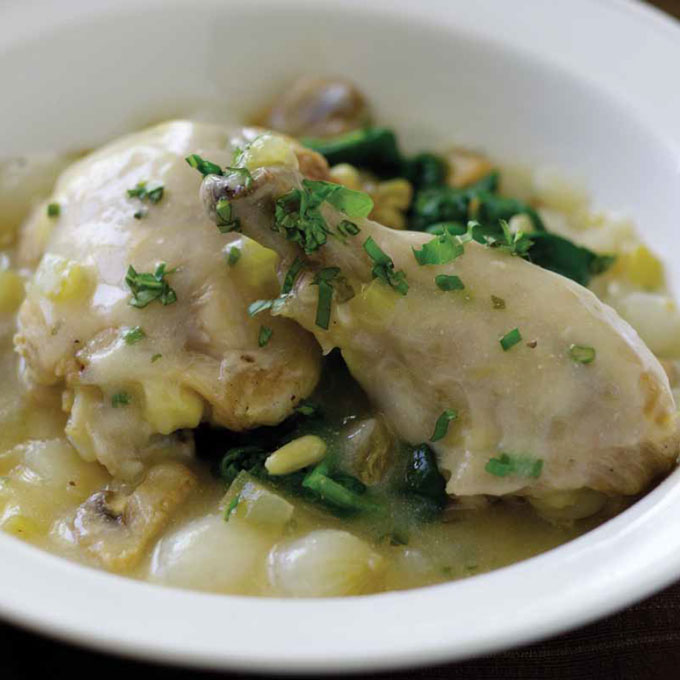 Fricassee Chicken and Mushrooms
